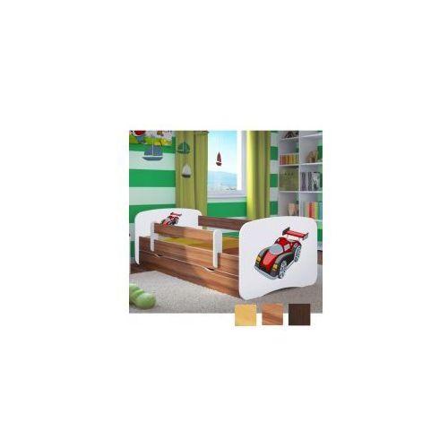 Łóżko dziecięce z materacem auto wyścigowe, biały-drewno marki Kocot-meble