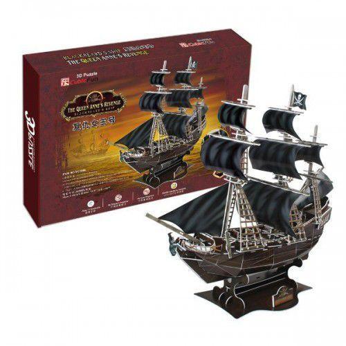 Cubicfun Puzzle 3d okręt piracki zemsta królowejanny