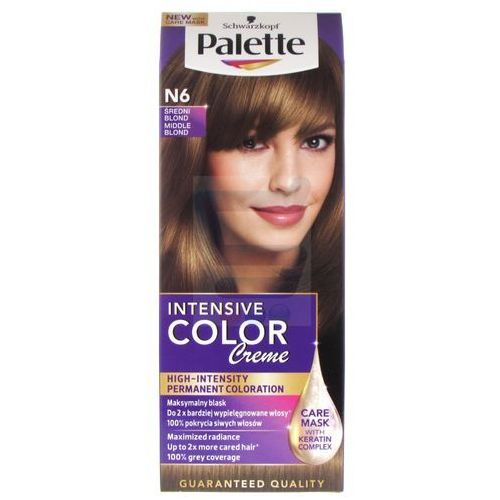Farba do włosów Palette Intensive Color Creme Średni blond N6, kolor blond