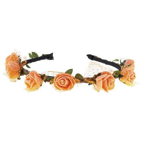 Opaska sztywna piankowe różyczki pomarańczowa - pomarańczowa marki Iloko