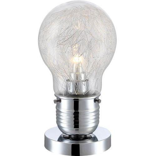 LAMPKA biurkowa FELIX 15039T Globo szklana LAMPA stołowa LED 4W żarówka bulb chrom przezroczysty (9007371291380)