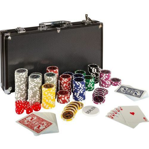 Max Zestaw do pokera 300 szt żetonów black edition 1 - 1000 (4048821404771)