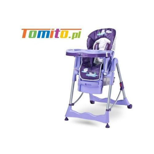 Caretero Wysokie krzesełko do karmienia magnus purple