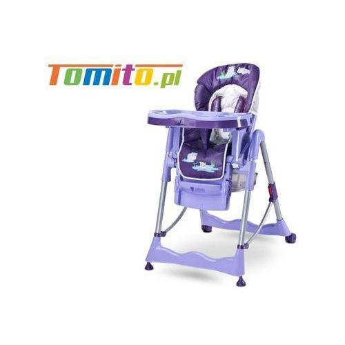 Wysokie krzesełko do karmienia magnus purple marki Caretero