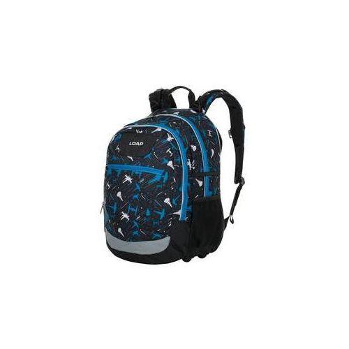 23f8ec527a963 Plecak szkolny ellipse black blue marki Loap