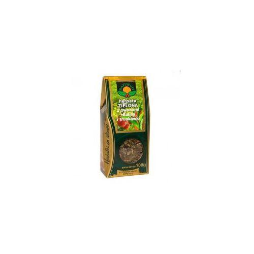 Herbata zielona z owocami maliny i truskawki 100g