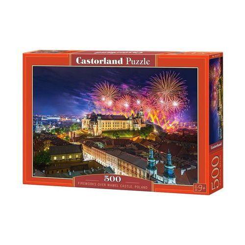 Puzzle Fireworks over Wawel Castle, Poland 500 - Castor (5904438052721)