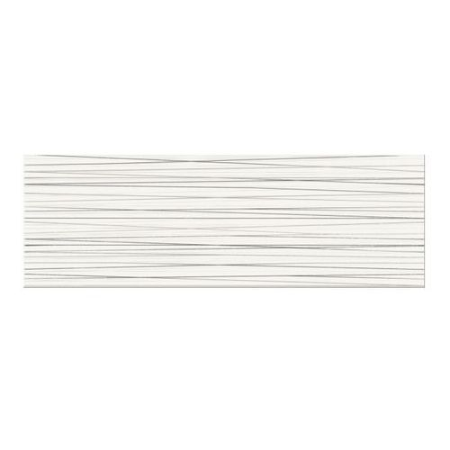 Dekor Ecosta Cersanit 25 x 75 cm white stripes (3663602364665)