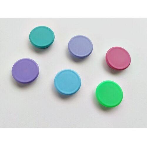 Magnesy pastelowe mix kolorów 24mm