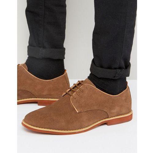duke derby shoes in tan suede - tan, Silver street