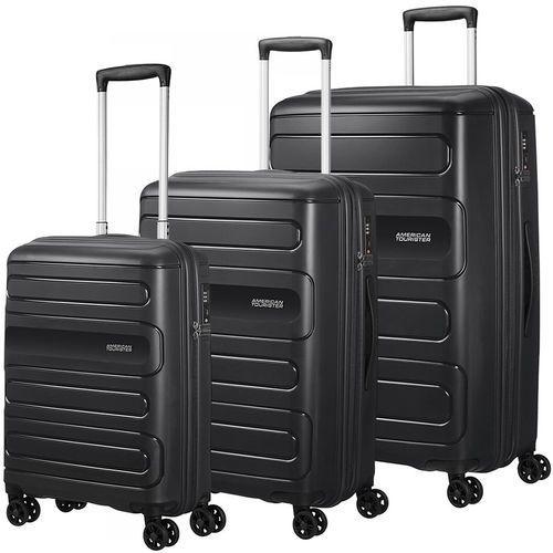American Tourister Sunside zestaw walizek / komplet / walizki na 4 kółkach / czarny - Black