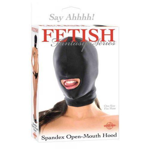 Fetish fantasy Ffs spandex open mouth hood black