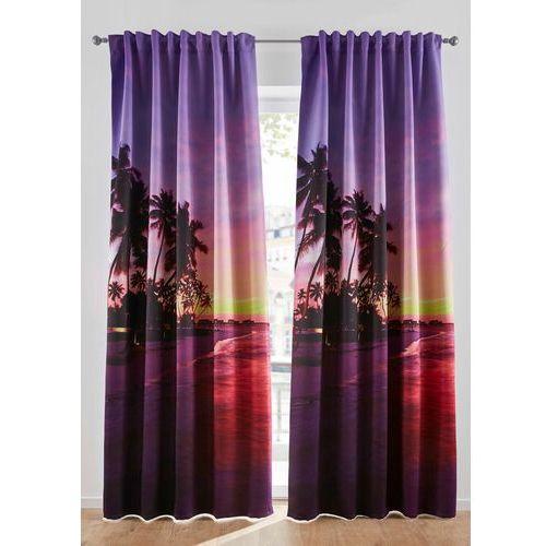 Zasłona zaciemniająca z fotorealistycznym nadrukiem (1 szt.) bonprix lila