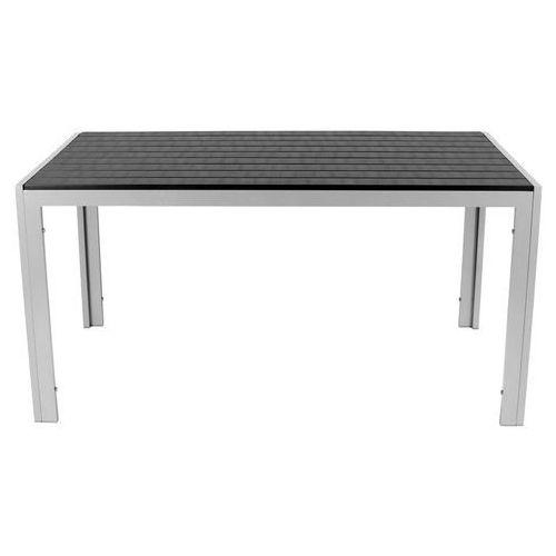 Stół ogrodowy aluminiowy modena - czarny - czarny marki Edomator.pl