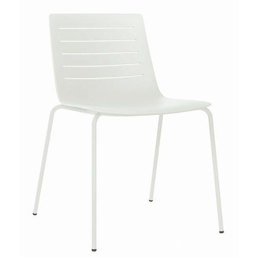 Krzesło Skin 4 białe podstawa biała