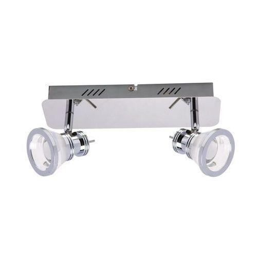ZUMALINE MOLI CK170205-2 Lampa punktowa LED 2x5W 800lm 3000K, srebrny, CK170205-2