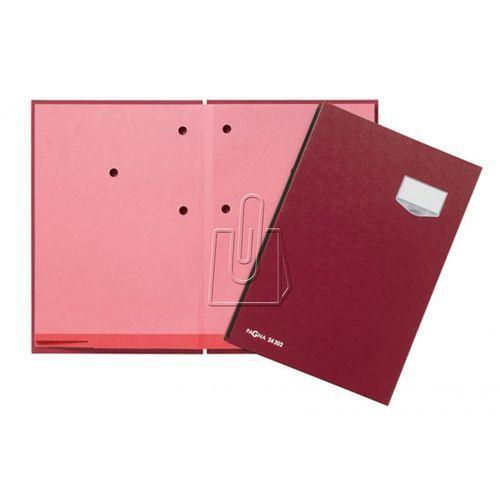 Teczka do podpisu Pagna DE LUXE 20 przekładek, okładka z tworzywa szt. czerwona (4013951000971)