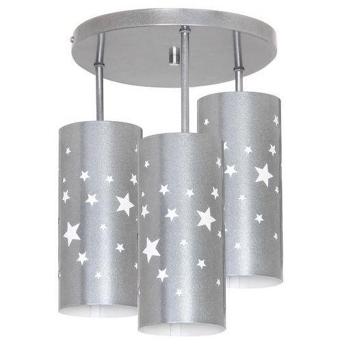 Lampa oprawa ścienna plafon Aldex Gwiazdy 3x40W E14 srebrna 710E/3 (5904798627300)