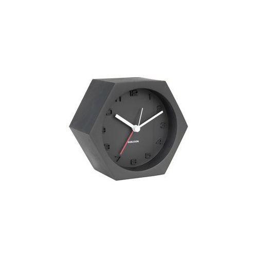 Karlsson :: budzik hexagon concrete czarny - czarny