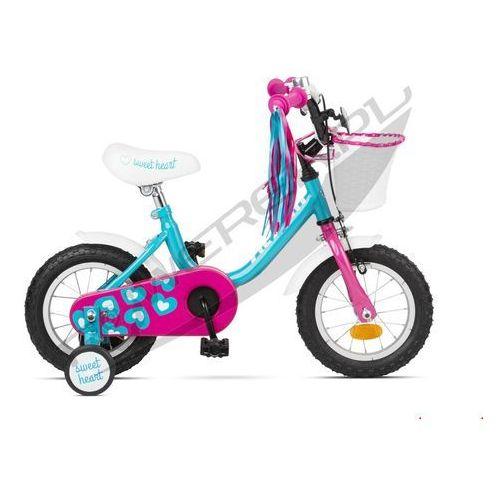 """600-51-35_acc rower dziecięcy sweetheart 12"""" niebiesko-różowy marki Accent"""
