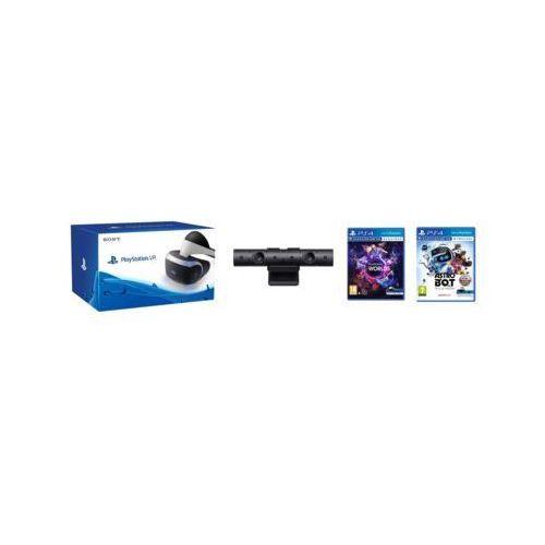 Gogle wirtualnej rzeczywistości sony playstation vr + playstation camera v2 + vr worlds (voucher) + astro bot: rescue mission marki Sony interactive entertainment