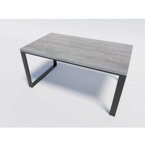 Solidny metalowy stół w stylu loft RENO 140/90 Beton