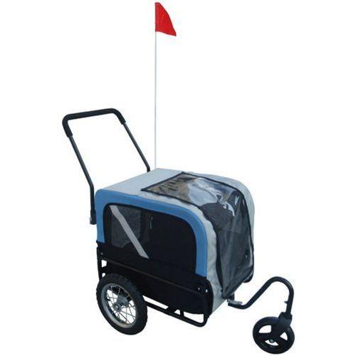 Vidaxl  przyczepka rowerowa dla psa + jogger, niebieska (8718475828617)