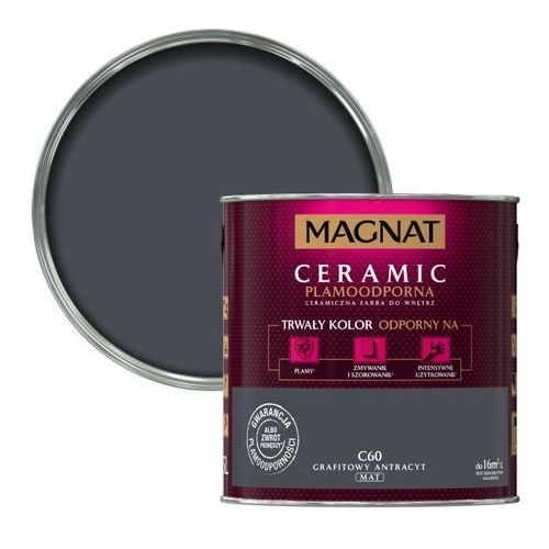 Farba Ceramiczna Magnat Ceramic C60 Grafitowy Antracyt 2.5l, kolor niebieski