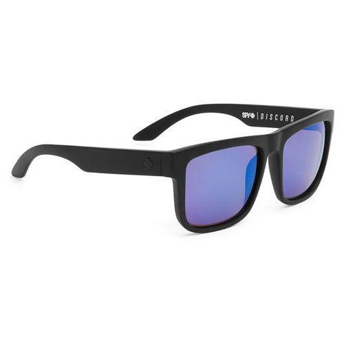 Okulary Słoneczne Spy DISCORD Polarized Matte Black - Happy Bronze W/ Blue Spectra, kolor niebieski