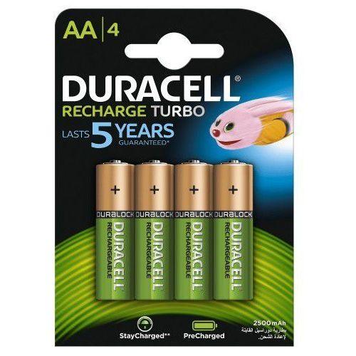 Duracell 4 x akumulatorki recharge turbo r6/aa 2500 mah (blister) (5000394057203)