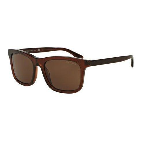 Okulary Słoneczne Giorgio Armani AR8066F Asian Fit 543873, kolor żółty