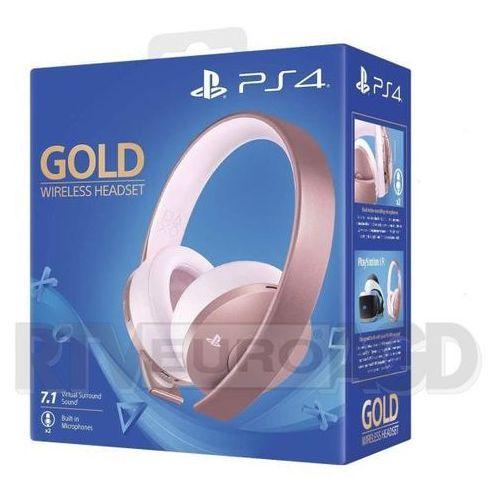 Sony PlayStation Wireless Headset Gold (różowe złoto), KAK4HEADGOLDF