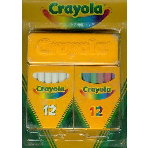 Crayola - zestaw kredy białej i kolorowej - crayola