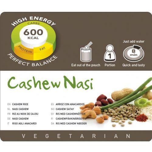 cashew nasi żywność kempingowa jedna porcja posiłki wegetariańskie marki Adventure food