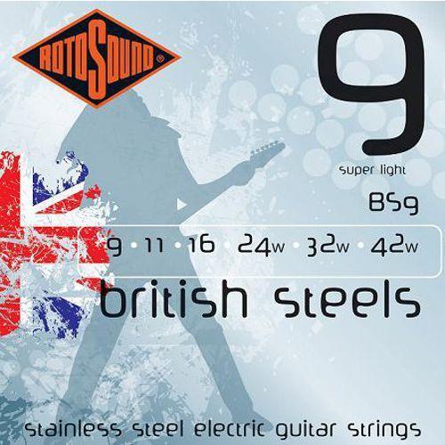 bs9 british steels struny do gitary elektrycznej 9-42 marki Rotosound