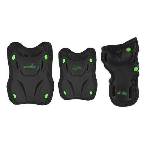 Zestaw ochraniaczy NILS EXTREME H407 Czarno-zielony (rozmiar S)