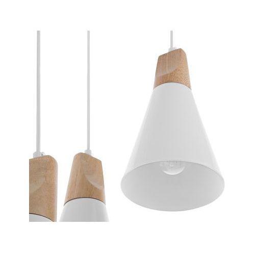 Beliani Lampa wisząca 3 klosze biała ticino