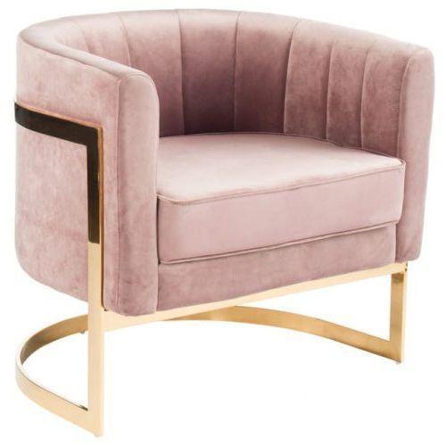 Fotel tapicerowany muszla velvet marki Design town