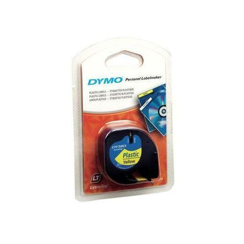 taśma do letra tag plastikowa 12mmx4m, żółta marki Dymo