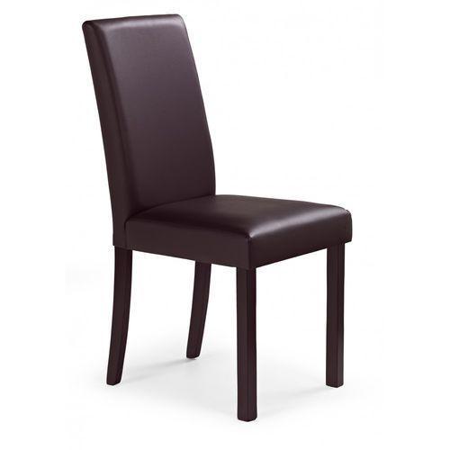 Stylowe krzesło z drewna litego NIKKO ciemny orzech / Gwarancja 24m / NAJTAŃSZA WYSYŁKA!, OPT11175