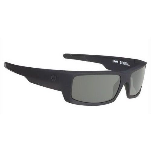 Okulary Słoneczne Spy GENERAL Polarized SOFT MATTE BLACK - HAPPY GRAY GREEN POLAR, kolor zielony