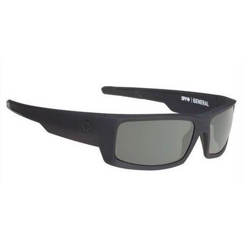 Spy Okulary słoneczne general polarized soft matte black - happy gray green polar