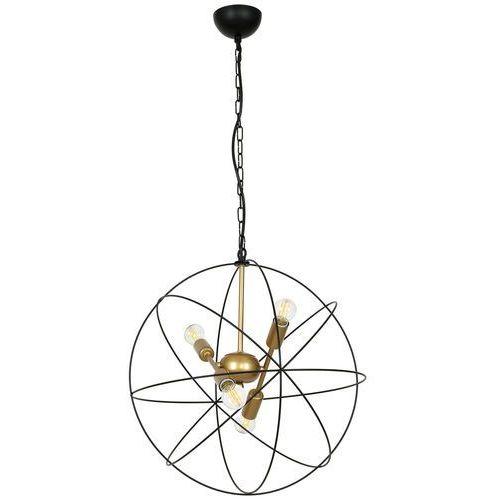 Luminex Copernicus 1098 lampa wisząca zwis 4x60W E14 czarny / złoty, kolor Czarny