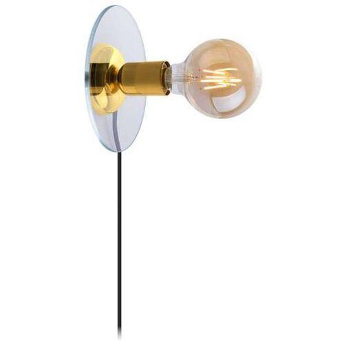 Amplex Kinkiet lampa ścienna olaia 0525 okrągła oprawa szklana na żarówkę loft złota (1000000549775)