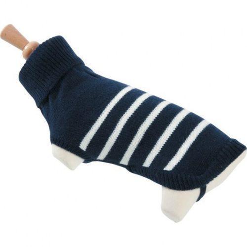Zolux sweterek z golfem w paski 25cm niebieski [410954ble] - darmowa dostawa w poznaniu!