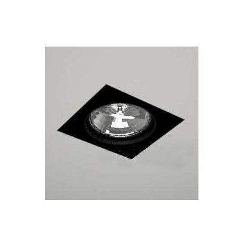 Wpust LAMPA sufitowa KOMORO 7323 Shilo podtynkowa OPRAWA spot OCZKO kwadratowy czarny, 7323