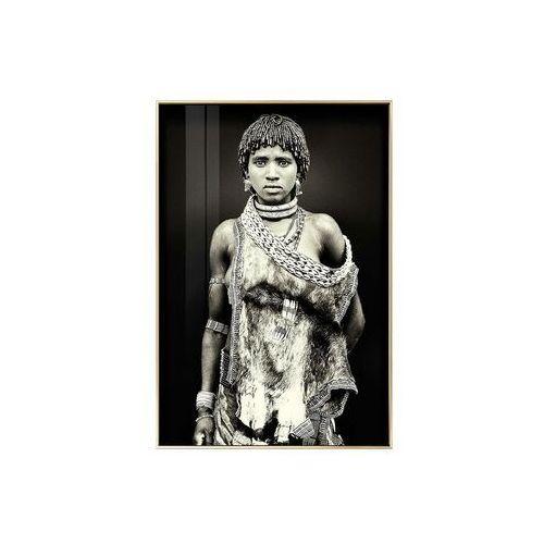 Obraz drukowany w ramie LEONA – 80 × 120 × 2,5 cm (dł. × szer. × wys.) – kolor czarny i biały