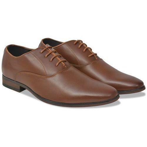 Vidaxl eleganckie sznurowane buty męskie, brązowe, rozmiar 42 skóra pu