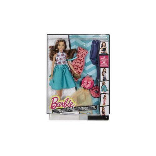 Barbie Lalka  modowe przebieranki (brunetka)