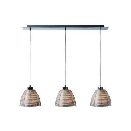 Nowoczesna LAMPA wisząca PICO MD9023-3B SIL Zumaline metalowa OPRAWA szklany ZWIS kopuły LISTWA srebrna